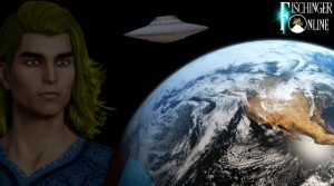 """Ashrar Sheran, der angebliche Alien-Kommandeur von Millionen UFOs: """"Ich klage an!"""" (Bilder: gemeinfrei / NASA / Montage: Fischinger-Online)"""