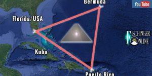 Spektakuläre Pyramiden im Bermuda-Dreieck entdeckt? (Bild: Google Earth / Montage: Fischinger-Online)