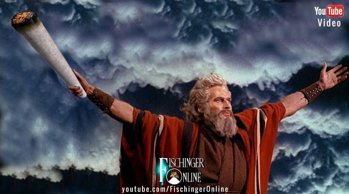 Waren Moses und die Israeliten alles Kiffer bzw. standen unter Drogten?- Zumindest vermutet das ein israelischer Professor (Bilder: gemeinfrei / Montage: Fischinger-Online)