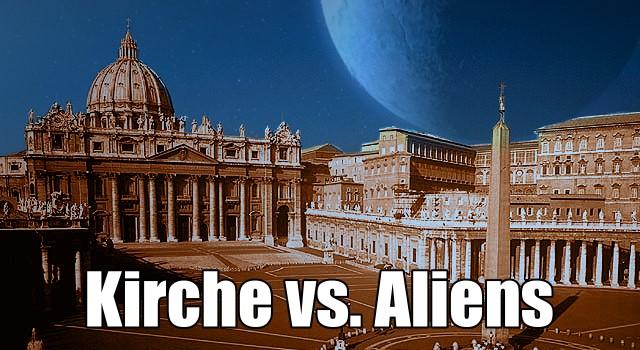 Der Vatikan, der Papst und die Außerirdischen – Die Haltung der katholischen Kirche zu der Frage Leben im Universum (Bild: L. A. Fischinger /NASA / Montage: L. A. Fischinger)