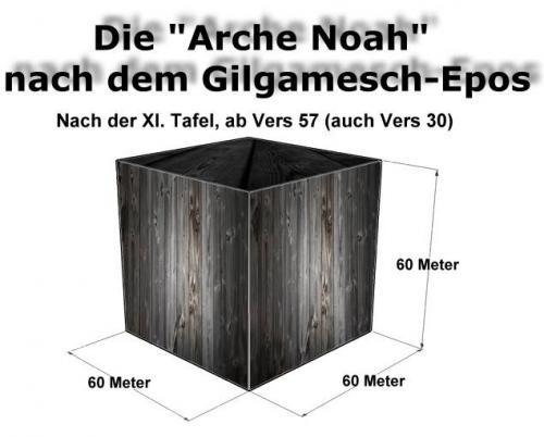 """Rekonstruktion der """"Arche Noah"""" nach den Angaben des Gilgamesch-Epos (Bild: L.A. Fischinger)"""