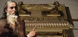 Der Stab des Mose und die Bundeslade (Bild: L. A. Fischinger / gemeinfrei / Montage: L. A. Fischinger)