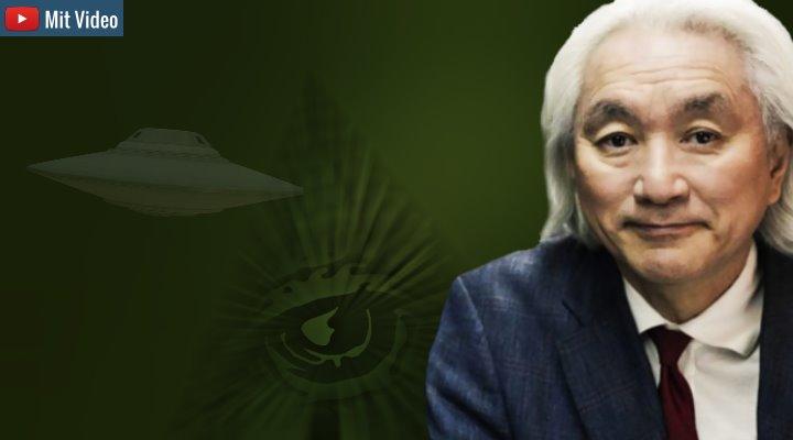 Dr. Michio Kaku am US-TV zum Thema UFOs ... und sogleich ist auch er ein teuflischer Illuminat! (Bilder: gemeinfrei & mkaku.org / Montage/ Bearbeitung: Fischinger-Online)