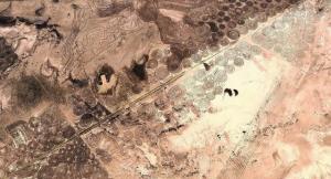 """""""Bodenbilder"""" in Südafrika? (Bild: Google Earth)"""