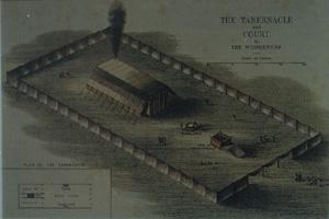"""Der """"mobile Tempel"""" beim Exodus (Bild: Archiv W.-J. Langbein)"""