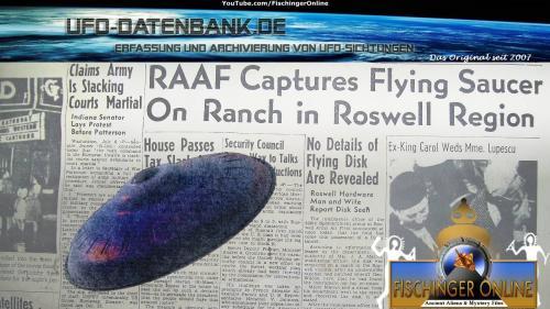 UFOs over Germany & 66 Jahre Roswell-Meldung (Bild: UFO-Datenbank.de / Archiv L.A. Fischinger)