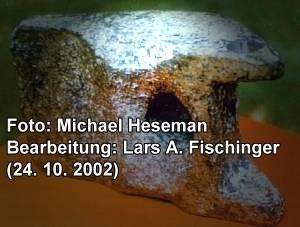 Das Aluminium-Objekt von Aiud wie es Michael Hesemann fotografierte und Lars A. Fischinger grafisch bearbeitete (Bild: M. Hesemann)