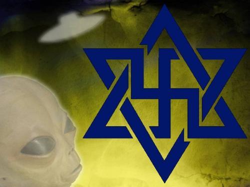 "Logo der UFO-Sekte ""RAEL-Bewegung"""