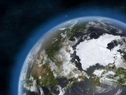 Unsere Erde - was bringt die Zukunft unserer Zivilisation? (Bild: NASA/JPL / L.A. Fischinger)