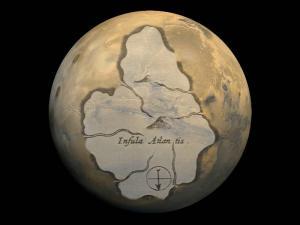 Lag Atlantis nauf dem Mars? (Bild: NASA / WikiCommons L.A. Fischinger)