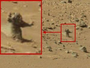 Ein Alien auf dem Mars? (Bild: NASA/JPL / L.A. Fischinger)