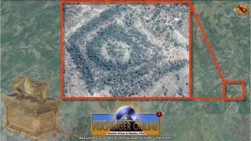 Sensation in Äthiopien? Eine Stufenpyramide? (Bild: GoogleEarth / L. A. Fischinger)