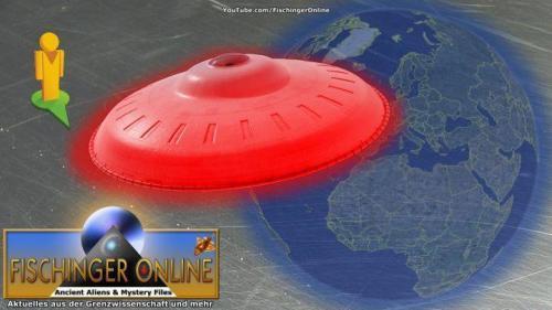 UFO via Google Earth gefunden? (Bild: WikiCommons / L.A. Fischinger / Google Earth)