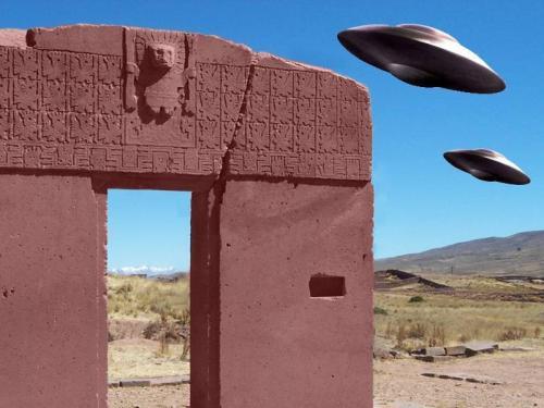 """Das """"Sonnentor"""" von Tiahuanaco in Bolivien (Bild: WikiCommons / L. A. Fischinger)"""