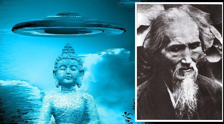 UFO-Sichtung 1884? Ein berühmter Lama sah schon vor über 130 Jahren UFOs am Himmel (Bilder gemeinfrei / Montage: Fischinger-Online)
