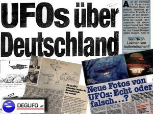 Zusammenschnitt von Deutschen UFO-Berichten aus dem Pressearchiv der DEGUFO Österreich (Bild: DEGUFO.at / L.A. Fischinger)