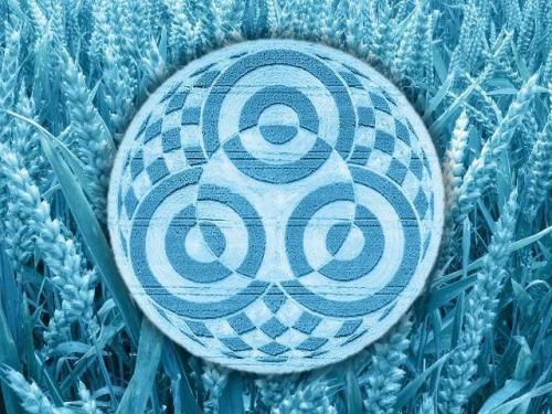 Der Kornkreis am Ammersee - nicht der erste der Region (Bild: L. A. Fischinger / WikiCommons)