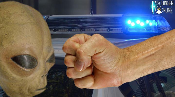 """In Augsburg kämpfte ein Mann in seiner Wohnung gegen """"Außerirdische"""" - bis die Polizei kam (Bilder: gemeinfrei & Fischinger-Online)"""