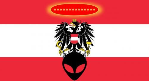 Aliens, UFOs und Kontakte 1970 im Österreichischen TV (Bild: WikiCommons/gemeinfrei / Bearbeitung: L. A. Fischinger)