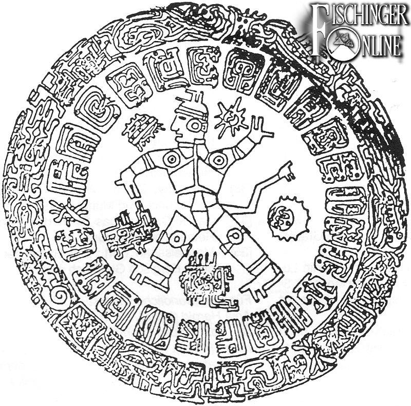 Zeichnung der rätselhaften Metallplatte, wie Peter Krassa sie 1991 veröffentlichte (Archiv P. Krassa)