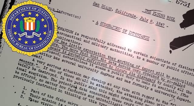 """Ein """"FBI-Papier"""" von 1947 spricht von UFOs aus anderen Dimensionen (Bild: FBI / WikiCommons / gemeinfrei)"""
