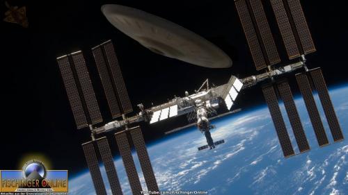 Zeigt ein NASA-Video ein UFO an der ISS? (Bild: L. A. Fischinger / gemeinfrei / NASA/DLR)