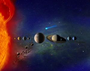 Unser Sonnensystem - angeblich überall bewohnt (Bild: NASA)