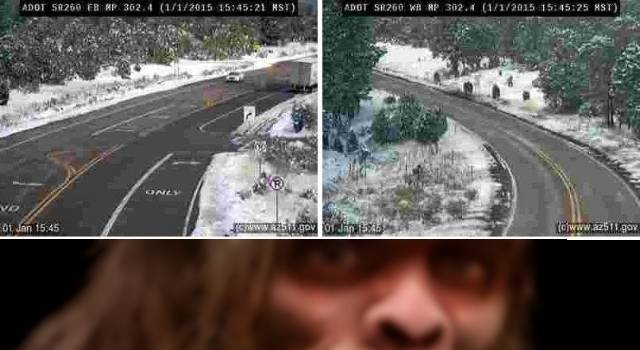 Bigfoot Familie in Arizona fotografiert? (Bild: Arizona DOT/twitter / L.A. Fischinger)