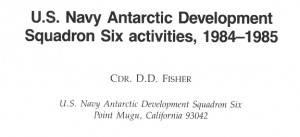 Artikel von D.D. Fisher - ihn gab es 1984 in entsprechender Funktion ... (Bild: L.A. Fischinger)