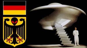 """UFO-Sekte """"RAEL-Bewegung will die deutsche Regierung um Platz für ein Botschafsgebäude für Aliens bitten (Bild: WikiCommons/gemeinfrei / L.A. Fischinger / RealPress)"""