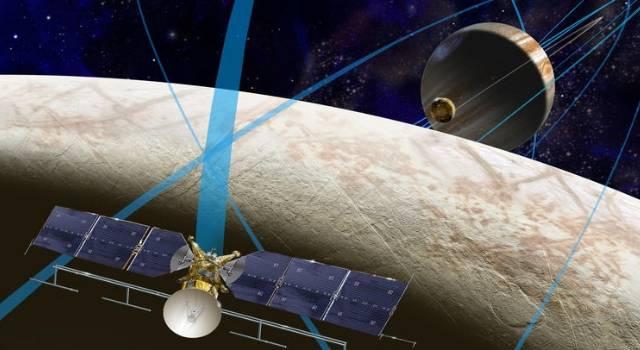"""Die NASA glaubt: in 10 - 20 Jahren finden wir außerirdisches Leben (Bild: Mission zum Jupiter-Mond """"Europa"""" / NASA)"""