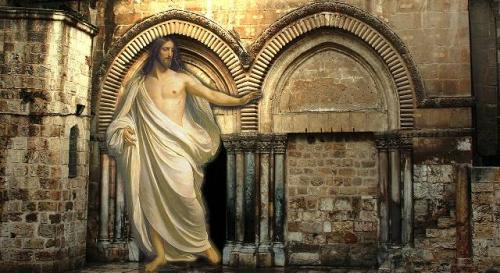 Streit um das angebliche Grab Jesus in Jerusalem (Bild: L.A. Fischinger & gemeinfrei)