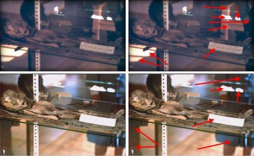 Die Roswell Alien Sliders: Bildvergleich (YouTube-Screenshots)