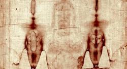 """Ausschnitt vom """"Turiner Grabtuch"""" - befindet sich auf ihm die DNA von Jesus? (Bild: gemeinfrei)"""