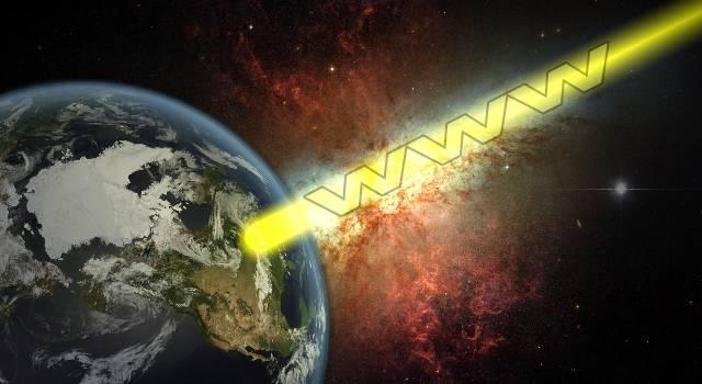 Ein Vorschlag von SETI-Forschern - die Menschheit soll den Inhalt des Internet in das Universum senden (Bild: L.A.Fischinger / NASA/JPL)