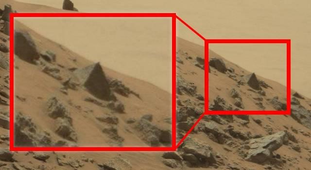 Pyramide auf dem Mars entdeckt - was fotografierte der NASA-Rover Curiosity auf dem Roten Planeten (Bild: NASA)