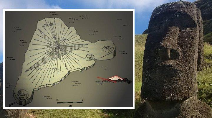 """Moai auf der Osterinsel: Weisen sie wirklich den Weg zu einer """"versteckten Botschaft? (Bilder: W.-J. Langbein & Fischinger-Online)"""