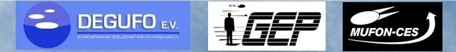 Die Deutschen UFO-Organisationen arbeiten zukünftig zusammnen: DEGUFO, MUFON-CES und GEP (Bild: MUFON-CES/GEP/DEGUFO)