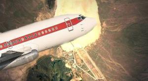 """Einmal One-way in die Area 51, bitte! Die Flugzeuge mit den roten Streifen von Las Vegas: Amerikas """"geheime Fluggesellschaft"""".(Bild: WikiCommons/gemeinfrei / Bearbeitung: L.A. Fischinger)"""