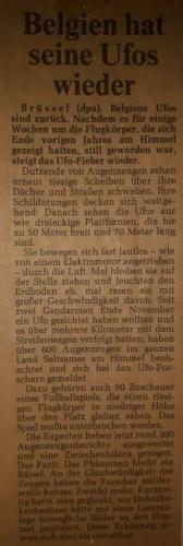 """""""Belgien hat seine UFOs wieder"""" (Bild: Archiv L. A. Fischinger)"""