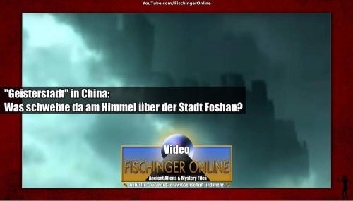 Geisterstadt am Himmel über China gefilmt? (Bild: YouTube-Screenshot / Montage: L. A. Fischinger)