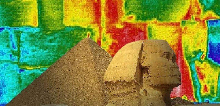 """Scan Pyramid Mission"": erste Ergebnisse. Irgendwas ist an den 4 größten Pyramiden Ägyptens ""nicht normal"" ... (Bild: CNN-Sceenshot / L. A. Fischinger)"