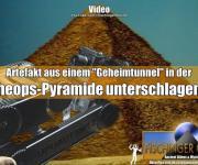 """Cheops-Pyramide: Artefakt aus einem """"Geheimgang"""" der Pyramide unterschlagen? (Bild: L. A. Fischinger)"""