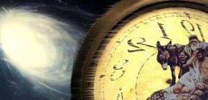 Ein mysteriöser Text gibt Rätsel auf: Eine Zeitreise vor 2.500 Jahren? (Bild: NASA/JPL / WikiCommons / W.-J. Langbein / Montage: L. A. Fischinger)