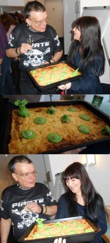 Vegesack 2015 Jubiläum mit Alien-Kuchen und Sekt