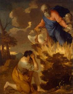 Der brennende Dornbusch und Moses nach Sébastien Burning: War es wirklich so? (Bild: gemeinfrei)