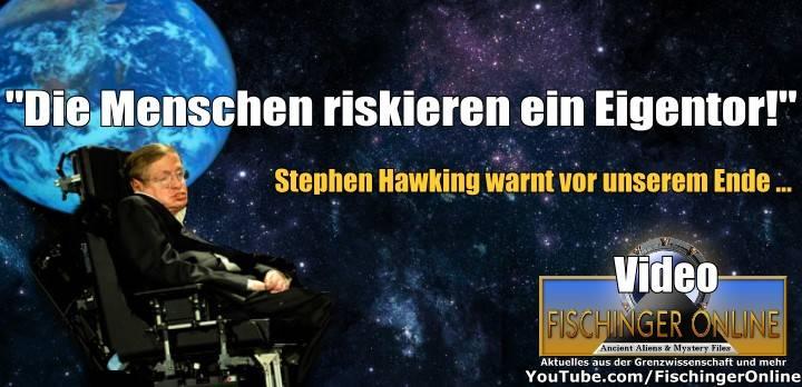 VIDEO: Prof. Stephen Hawking warnt in einem Interview vor dem Untergang der Menschheit – Und spekuliert auch, wie wir den Weltuntergang überleben können … (Bild: NASA/JPL / WikiCommons/gemeinfrei / Montage: L. A. Fischinger)