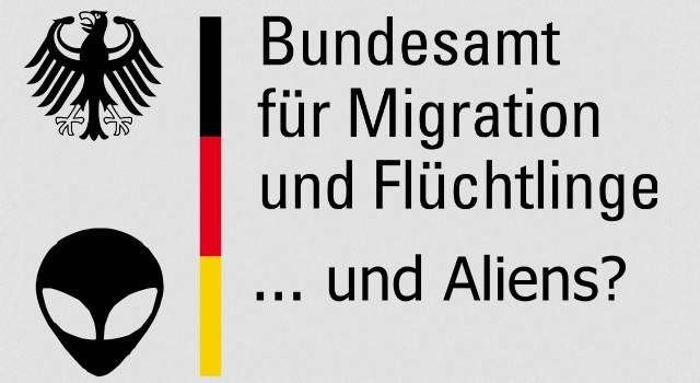 Dauerstreit um Flüchtlinge: Aber bekommen auch echte Aliens bei uns Asyl? (Bild: gemeinfrei / Montage: L. A. Fischinger)