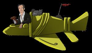 Mystery Toon: Der Jäger des Phantastischen Lars A. Fischinger und sein Team im Goldflieger auf Mystery-Jagd (Bild: H. Stehr / Deep-Xcursion.de)