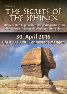 """""""Die Geheimnisse der Sphinx"""" - Flyer des Kongresses (Bild: D. Görlitz / St. Erdmann / Galileo-Park.de)"""